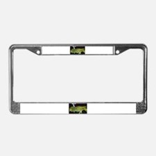 Cute African gray parrot License Plate Frame