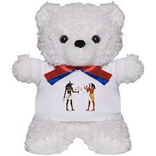 Anubis and Thoth Art Teddy Bear
