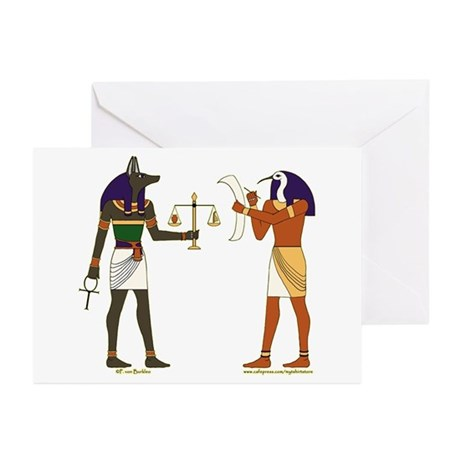 Anubis and Thoth Art Greeting Cards (Pk of 10)