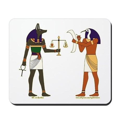 Anubis and Thoth Art Mousepad