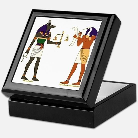 Anubis and Thoth Art Keepsake Box