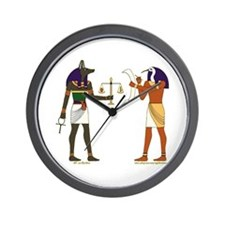 Anubis and Thoth Art Wall Clock
