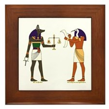 Anubis and Thoth Art Framed Tile