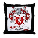 Dunbar Family Crest Throw Pillow