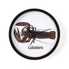 Lobsters Wall Clock
