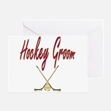 Hockey Groom Greeting Card