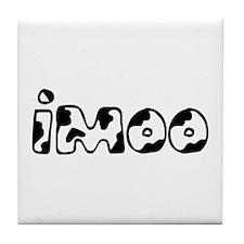 Black imoo Tile Coaster