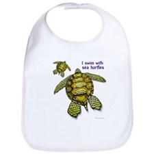 I Swim With Sea Turtles Bib