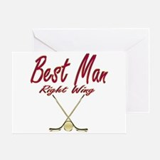 Hockey Best Man Greeting Card
