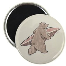 Surfing Brown Bear Magnet