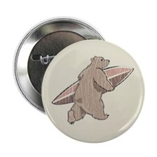 "Surfing Brown Bear 2.25"" Button"
