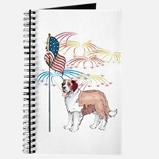 USA Flag St Bernard Journal