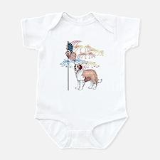 USA Flag St Bernard Infant Bodysuit