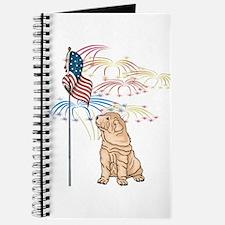 USA Flag Shar-Pei Journal