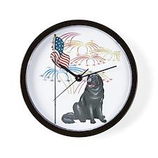 USA Flag Newfoundland Wall Clock