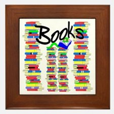 Books Framed Tile
