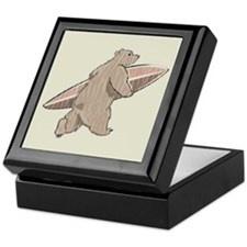Surfing Brown Bear Keepsake Box