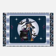 Little Halloween Witch Postcards (Package of 8)
