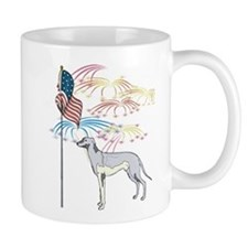 USA Flag Greyhound Mug