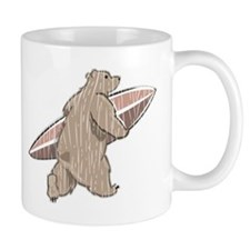 Surfing Brown Bear Mug