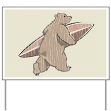 Surfing Brown Bear Yard Sign