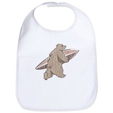 Surfing Brown Bear Bib