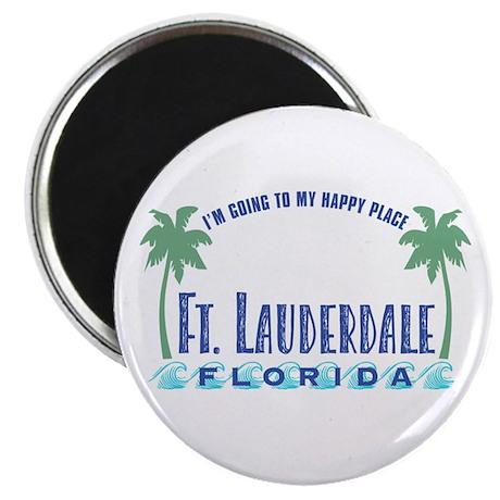 Ft. Lauderdale Happy Place - Magnet