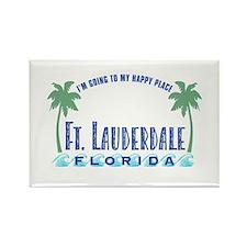 Ft. Lauderdale Happy Place - Rectangle Magnet
