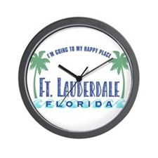 Ft. Lauderdale Happy Place - Wall Clock
