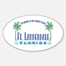 Ft. Lauderdale Happy Place - Oval Decal