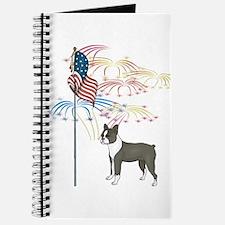 USA Flag Boston Terrier Journal