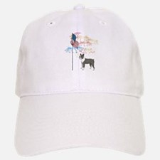 USA Flag Boston Terrier Baseball Baseball Cap