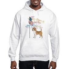 USA Flag Beagle Hoodie