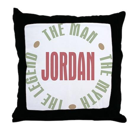 Jordan Man Myth Legend Throw Pillow