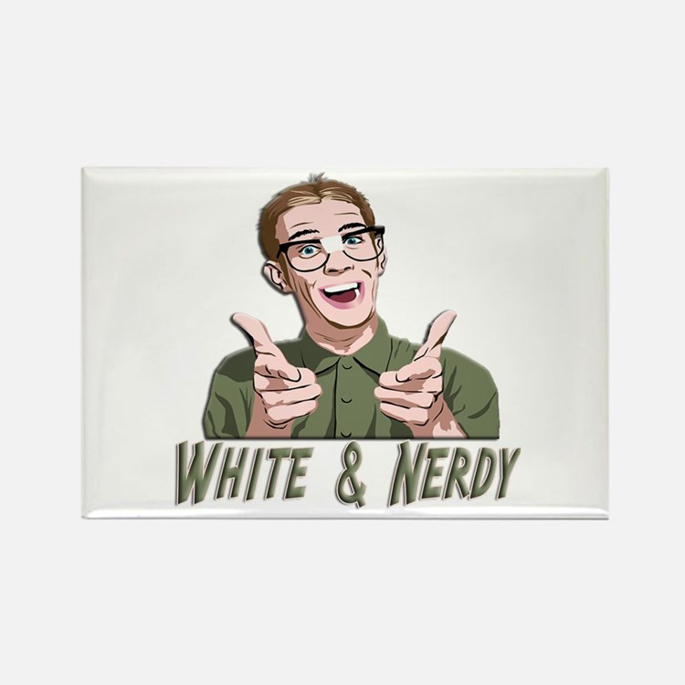 Weird Al Yankovic - White & Nerdy Rectangle Magnet