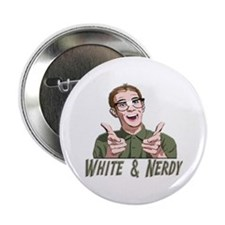 "Weird Al Yankovic - White & Nerdy 2.25"" Button (10"