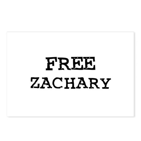 Free Zachary Postcards (Package of 8)