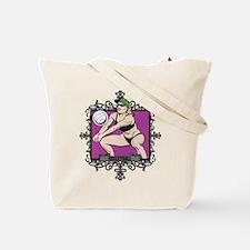 Aggressive Women's Volleyball Tote Bag