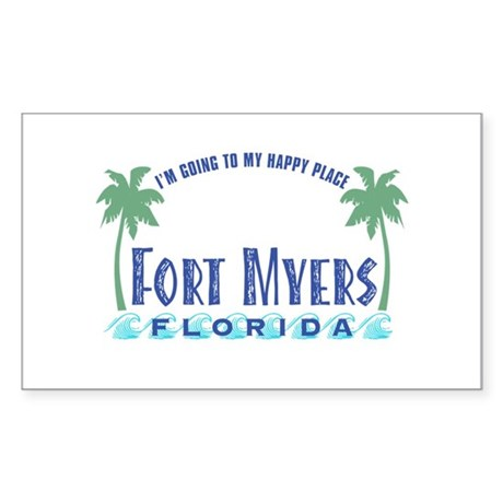 Ft. Myers Happy Place - Rectangle Sticker