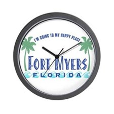 Ft. Myers Happy Place - Wall Clock