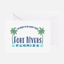 Ft. Myers Happy Place - Greeting Card