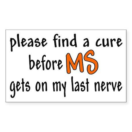 Last Nerve Rectangle Sticker