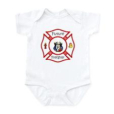Future Firefighter Red Infant Bodysuit