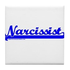 Softball Narcissist Tile Coaster