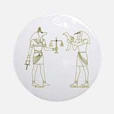 Anubis and Thoth Art II Ornament (Round)