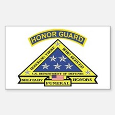 Honor Guard Rectangle Sticker 10 pk)