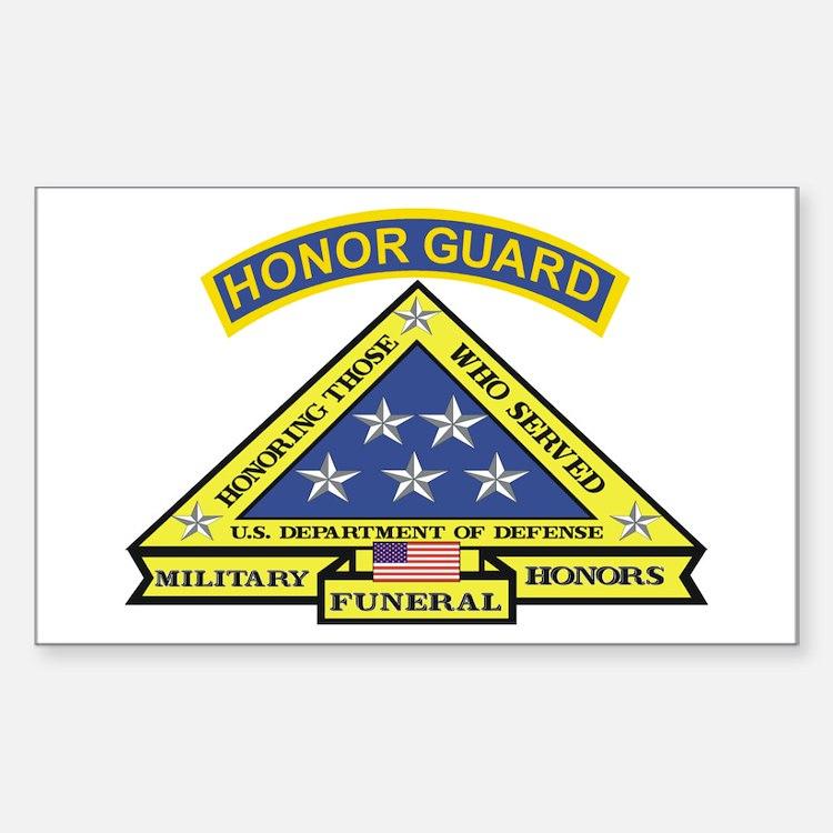 Honor Guard Rectangle Sticker 10 pk)