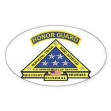 Honor Guard Oval Sticker (10 pk)