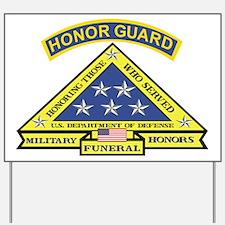 Honor Guard Yard Sign