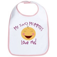 My 2 Mommies Love Me Bib